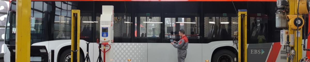 EBS Bus in werkplaats